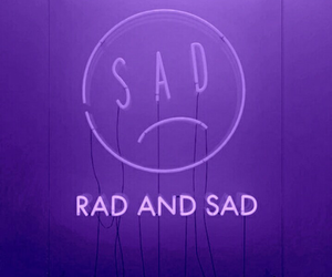 purple, sad, and aesthetic image