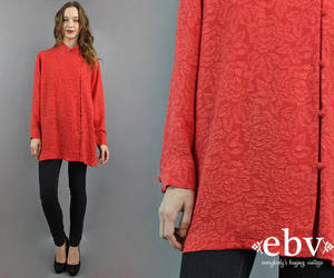 etsy, red shirt, and vintage fashion image