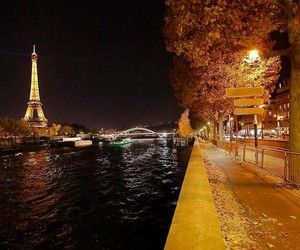 paname, paris by night, and photographie image