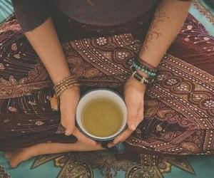 hippie, tea, and tumblr image