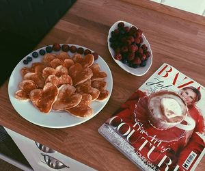 breakfast, food, and hearts image