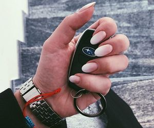 beauty, french, and long nails image