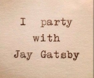 gatsby, party, and quotes image