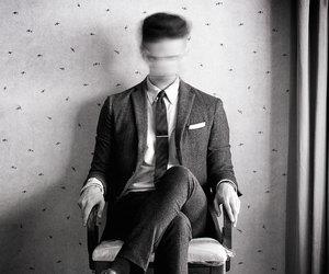 depression, black and white, and dark image