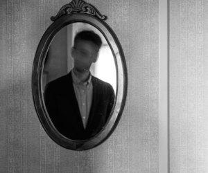 mirror, depression, and man image
