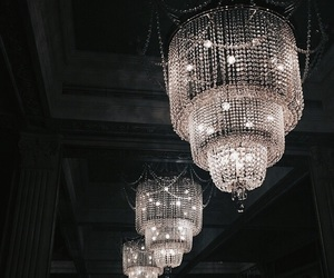 light, luxury, and chandelier image