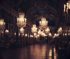 light, chandelier, and dark image