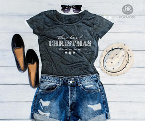 etsy, graphic tee, and christmas outfit image