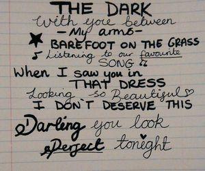 ed sheeran, song, and perfect image
