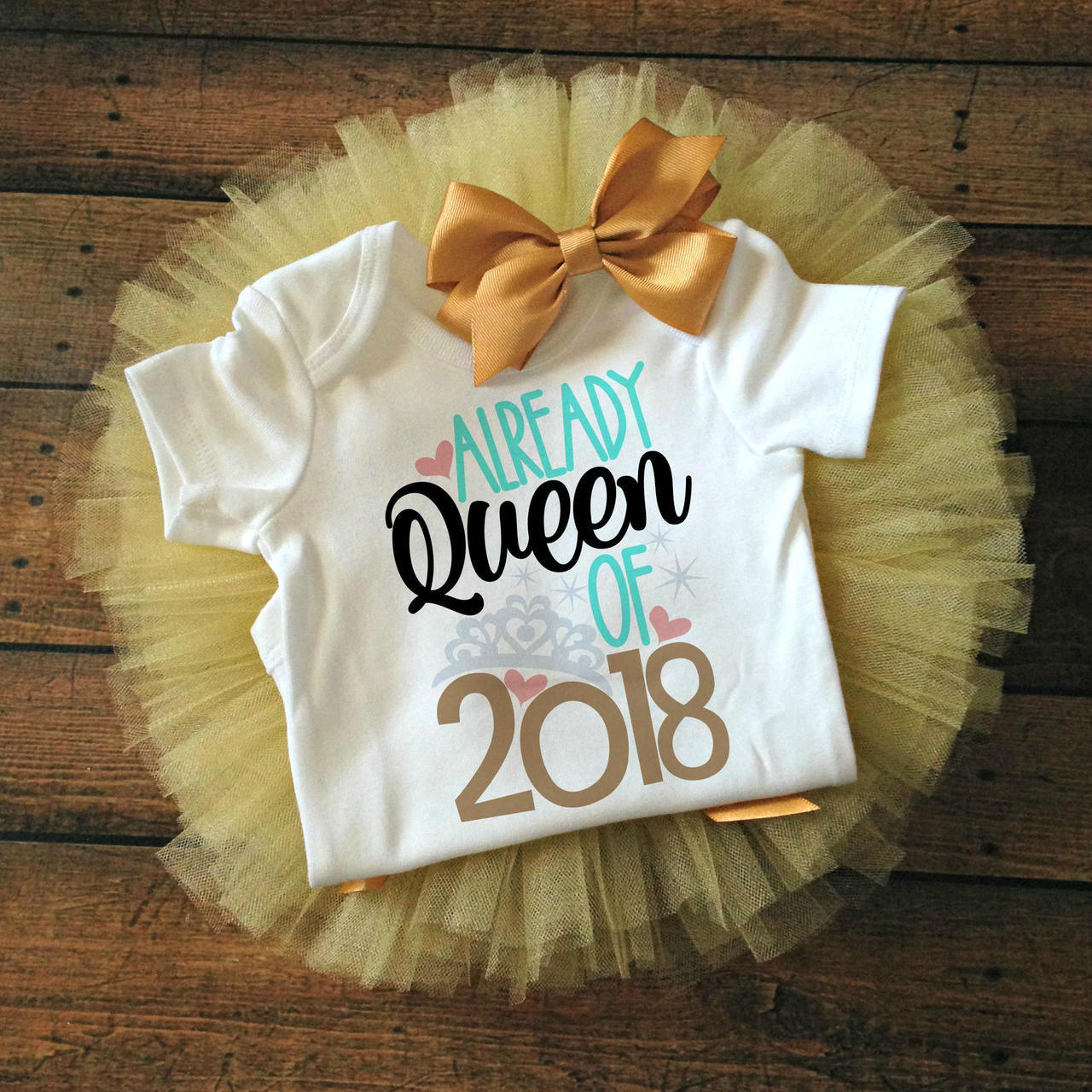Custom Name Baby Girl First New Year Outfit Personalized New Year Onesie\u00ae Girl 1st New Year 2019 Outfit Personalized Bodysuit Baby/'s First