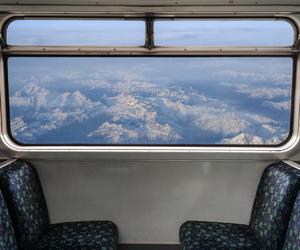 travel, sky, and train image