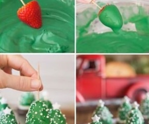christmas, strawberry, and diy image