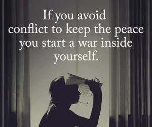 conflict, gray, and quote image