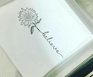 drawing, flowers, and ideas image