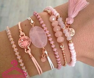 accesories, jewelry, and pink image