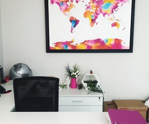 decor, pink, and office image