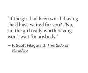 deep, f. scott fitzgerald, and worth image