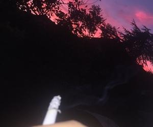 fall, girl, and sky image