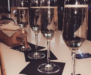 champagne, luxury, and wine image