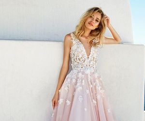 dress, pink, and beautiful image
