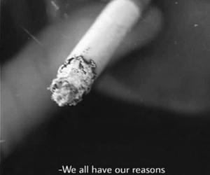 cigarette, smoke, and reason image
