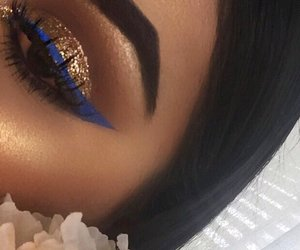beauty, blue, and eyeshadow image