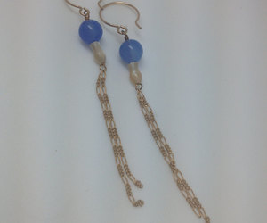 etsy, gold earrings, and long earrings image