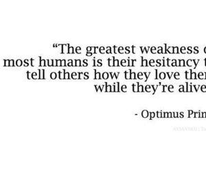quotes, love, and optimus prime image