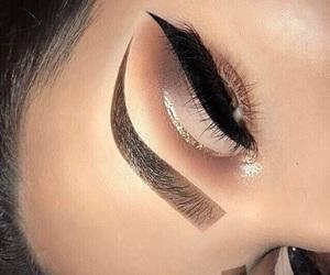 eye makeup, glitter, and eyeliner image
