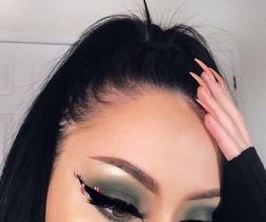 eye makeup, eyeliner, and nails image