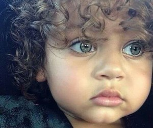 baby, green eyes, and child image