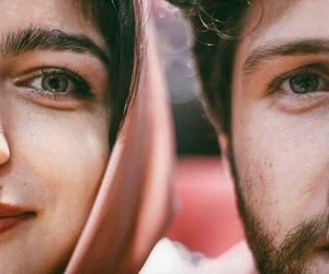 couple, eyes, and muslims image