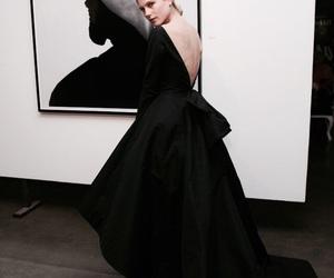 dress, black, and art image