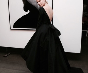 dress, black, and art image