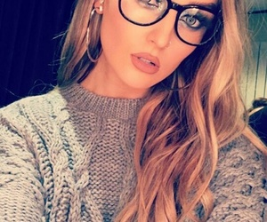 little mix, perrie edwards, and glasses image
