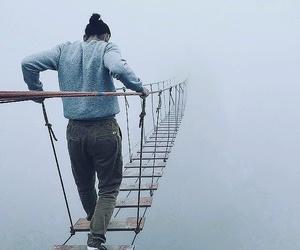 adventure, travel, and bridge image
