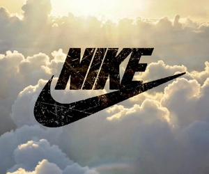 nike, sky, and wallpaper image
