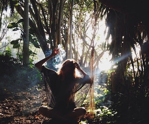 forest, hippie, and girl image