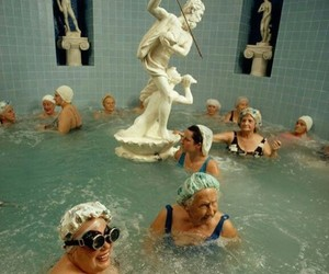 aesthetic, pool, and art image