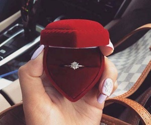 ring, couple, and luxury image