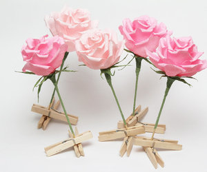 etsy, paper roses, and wedding flowers image