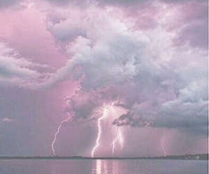 clouds, lightning, and pretty image