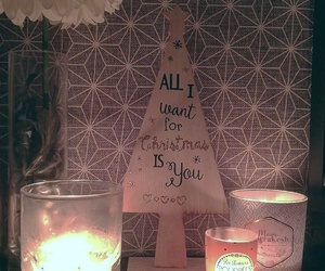 candle, décoration, and christmas image