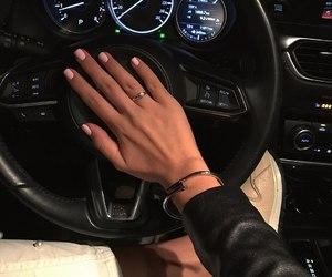 car, nails, and fashion image