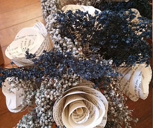 etsy, paper flowers, and paper roses image