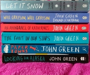 books, colors, and john green image