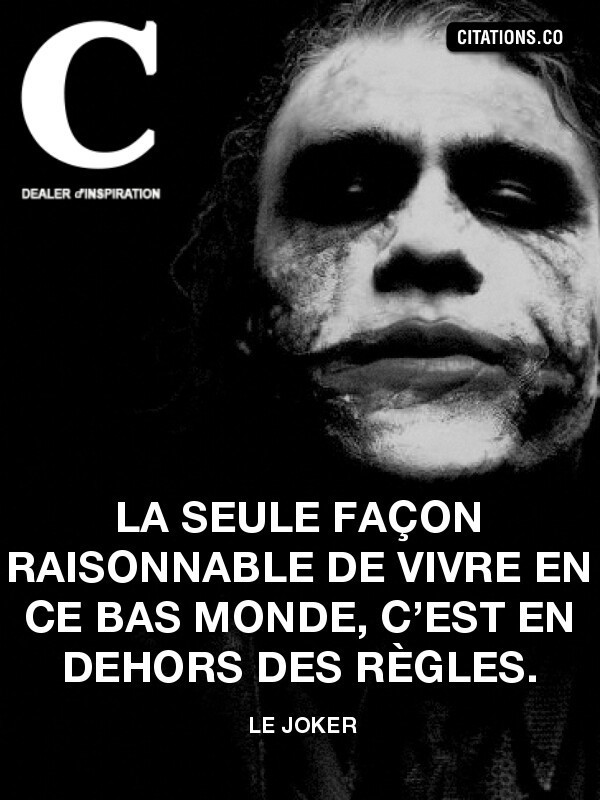 Joker Citation Français French Shared By Goirtee