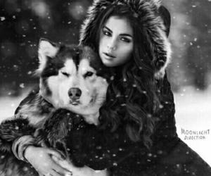 selena gomez, winter, and snow image