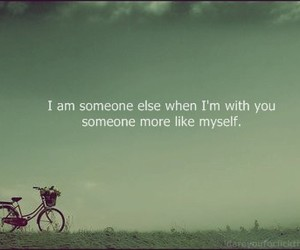 quote, text, and bike image