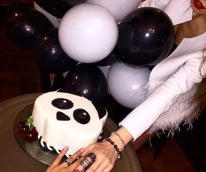 cake, panda, and girl image